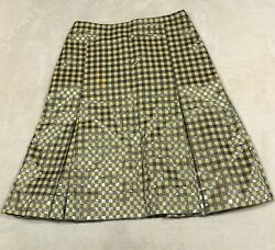 moschino cheap and chic small plaid peasant short skirt size 6