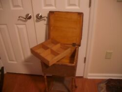 Bamboo And Cane Antique Sewing Stand