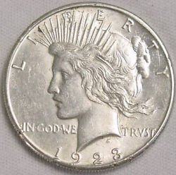 1923 S Peace Dollar 90 Circulated Us Silver Coin In Xf Condition No Reserve