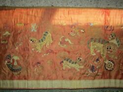 Antique Chinese Golden Thread Embroidery In Qing Dynasty Excellent China