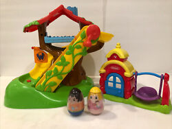 Weebles Treehouse 2009 Musical Playset Slide And Swings With Sound 2 Weeble Wobble