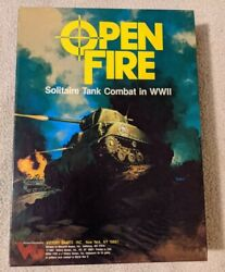 Vintageandnbspvictory Games Open Fire Solitaire Tank Combat In Wwii 1987 Unpunched Nm