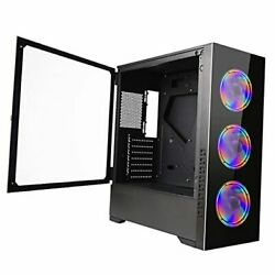 Pc Gaming Case Eatx/atx/matx /itx Mid Tower Computer Cases Colorful Fans Z21