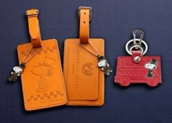 Peanuts Snoopy Doorman Leather Key Ring And Baggage Tag Japan Imperial Hotel Ltd