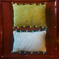 Decorator Custom Made Tony Duquette Style Moroccan Cushions Pair Pillows 1/2