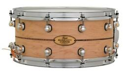 Pearl Music City Custom Solid Maple 14x6.5 Snare Drum - Natural With Boxwood-...