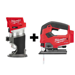 M18 Fuel 18-volt Lithium-ion Brushless Cordless Compact Router And Jig Saw 2-too