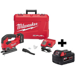 M18 Fuel 18-volt Lithium-ion Brushless Cordless Jig Saw Kit With Free 5.0 Ah Bat