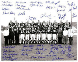 Cleveland Browns - Autographed Signed Photograph With Co-signers