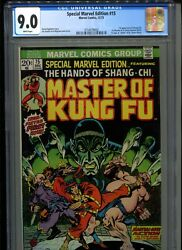 Special Marvel Edition 15 Cgc 9.0 White 1st Appearance Shang-chi And Fu Manchu