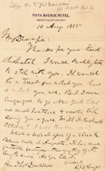 Rutherford B. Hayes - Autograph Letter Signed 08/10/1885