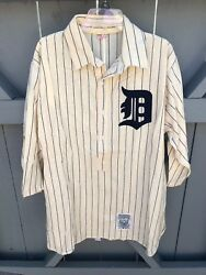 Vintage Mitchell And Ness 1912 Detroit Tigers Jersey Wool Size Xl