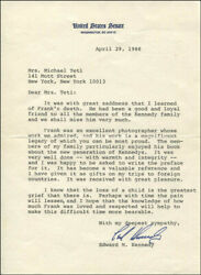 Edward Ted Kennedy - Typed Letter Signed 04/29/1988