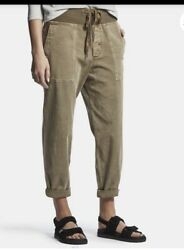 265 James Perse Pull On Clean Cargo Pants Sz 4/ Xl Fawn Mixed Media Wacs1862