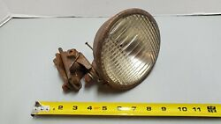 Vintage Cats Eye 5990 Clear Lens Light Lamp Motorcycle Car Truck Tractor Bracket