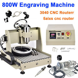5 Axis 3040t Usb Cnc Router Engraver 800w Vfd Engraving Milling Cutting Machine