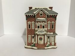 Lefton Christmas Colonial Village Real Estate Office Box And Light