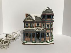 1996 Lefton Potter House Lighted Christmas House Colonial Village W/box An Light