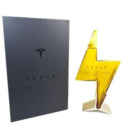 Empty Tesla Tequila Limited Edition Lightning Bottle, Box And Stand - No Alcohol