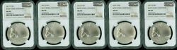 2017-p Boys Town Silver Dollar Ngc Ms69 Mac 2nd Finest And Spotless 5 Coins ..