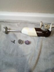 Vintage Handheld Electric Blender / Mixer / Wand Style Italy   Free Ship Vgc