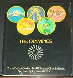 1972 The Olympics Toyota Dealers Guide To The 1972 Summer Olympic Games