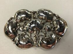 Vintage Mary Gage Sterling Silver Modernist Arts And Crafts Brooch Pin