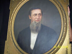 And039fantastic Early C1800 Original Oil On Canvas American Portrait Painting