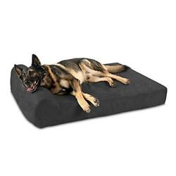 7 Pillow Top Orthopedic Dog Bed For Extra Large 52 X 36 X 7 Charcoal Gray