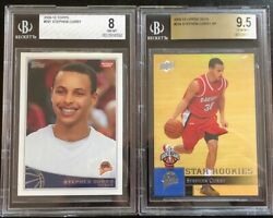 Stephen Curry /2009/ Rookie Cards 2 Card Lot - Topps 321 + Ud 234 Bgs 9.5