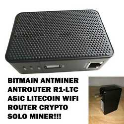 Bitmain Antminer Antrouter R1-ltc Asic Litecoin Wifi Router Crypto Solo Miner