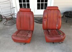 1976-78 Ford Mustang Ii Cobra High Back Bucket Seats Need Recovered