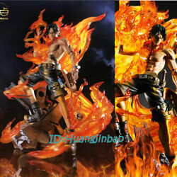 One Piece Portgas·d· Ace Statue Painted Model Led Light 1/4 Scale In Stock Anime