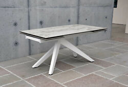 Table Base Metal, Plan Glass Finished Ceramics, 2 All. From 15 11/16in - Item