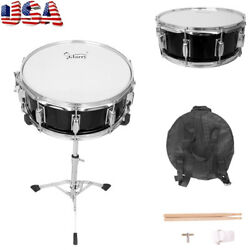 14x5.5quot; Black Snare Drum Poplar Wood Drum Percussion with Drumsticks Bag amp; Stand