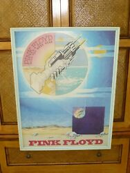 Original Pink Floyd Wish You Were Here 1975 Columbia Records Promo Poster Framed