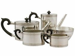 Antique Continental Silver Five Piece Tea And Coffee Set 1900-1940