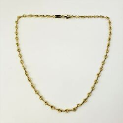 Vintage And Co 18 Karat Yellow Gold Link Necklace 9396