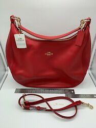 New COACH Women#x27;s Coach Harley in Pebble Leather True Red F38259 $69.99