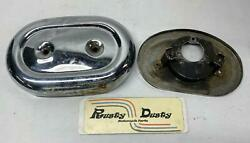 Harley Davidson Air Cleaner Cover And Backing Plate Shovelhead Ironhead Oval