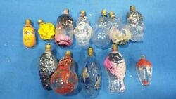Old Vintage Glass Christmas Ornamental Bulbs Lots From England 1950  .
