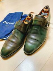 Berluti Single Monk Strap Shoes Green 6.5 Size 25.5cm From Japan Used D168