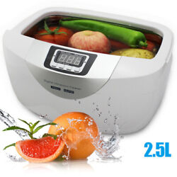 2.5l Commercial Timer Ultrasonic Cleaner For Denture Fruits Baby Bottle Cleaning