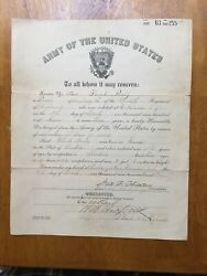 Army Discharge Paper Pre-ww1