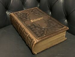Antique 1864 William Shakespeare 300 Years Anniversary Edition Leather Book Tome