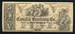 1800's 5 Canal And Banking Co. New-orleans. Louisiana Obsolete Remainder Unc