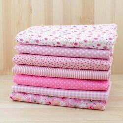 Fat Quarters Quilting Fabric 7 Bundles for Patchwork sewing Pink Floral Cotton