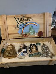 Wizard Of Oz Ornaments Polonaise Set Of 4 In Wooden Case