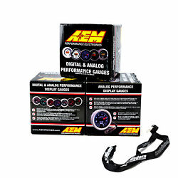Aem 52mm Gauge Combo Air/fuel Wideband Uego And Oil Pressure 150psi And Boost 30-35