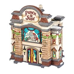 Dept 56 Dickens Village Punch And Judy Puppet Theatre Lighted Building 4036511 New